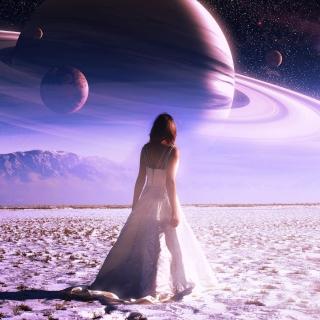 Girl on Mars - Obrázkek zdarma pro 2048x2048