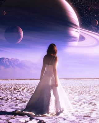 Girl on Mars - Obrázkek zdarma pro iPhone 4S