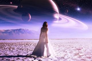 Girl on Mars - Obrázkek zdarma pro 1080x960