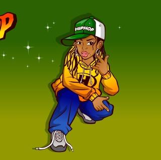 Hiphop Street Dancing Girl - Obrázkek zdarma pro iPad