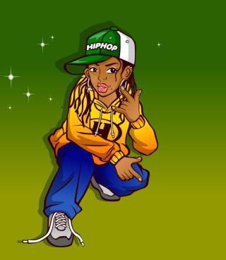 Hiphop Street Dancing Girl - Obrázkek zdarma pro iPhone 5C