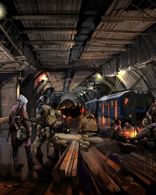 Metro 2034 Novel - Obrázkek zdarma pro 176x220