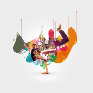 Breakdance Drips - Obrázkek zdarma pro 128x128