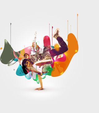 Breakdance Drips - Obrázkek zdarma pro Nokia C6