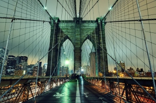 Brooklyn Bridge At Night Wallpaper for Android, iPhone and iPad