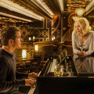 Jennifer Lawrence and Chris Pratt in Passengers Film - Obrázkek zdarma pro iPad Air