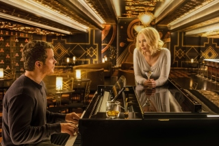 Jennifer Lawrence and Chris Pratt in Passengers Film sfondi gratuiti per cellulari Android, iPhone, iPad e desktop