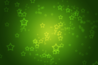 Green Stars Background for Android, iPhone and iPad