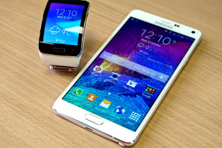 Samsung Galaxy and Samsung Gear S Smartwatch Wallpaper for Android, iPhone and iPad