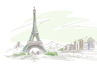 Drawing Of Eiffel Tower Picture for Android, iPhone and iPad