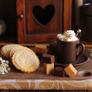 Coffee with candy - Obrázkek zdarma pro 208x208