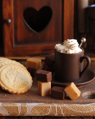 Coffee with candy - Obrázkek zdarma pro Nokia X6