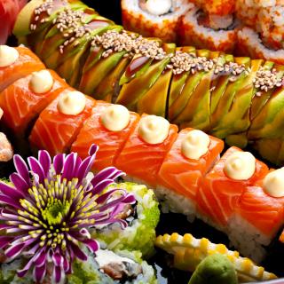 Seafood Salmon Sushi - Obrázkek zdarma pro iPad mini 2