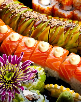 Seafood Salmon Sushi - Obrázkek zdarma pro Nokia Asha 308