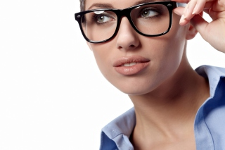 Girl in Glasses Background for Android, iPhone and iPad