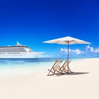 Tropical White Beach - Obrázkek zdarma pro iPad Air