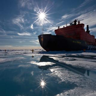 Icebreaker in Greenland - Obrázkek zdarma pro 208x208