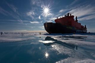 Icebreaker in Greenland - Obrázkek zdarma pro 1080x960