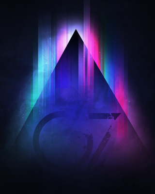 Colorful Triangle Vector - Obrázkek zdarma pro iPhone 6