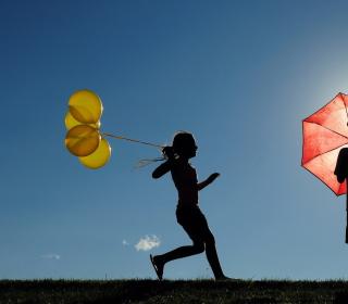 Yellow Balloons - Obrázkek zdarma pro iPad Air