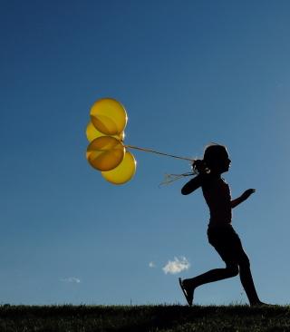 Yellow Balloons - Obrázkek zdarma pro Nokia X1-00