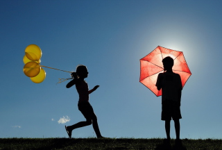 Yellow Balloons - Obrázkek zdarma pro Samsung Galaxy Tab S 8.4