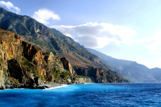 Crete Island Rock Background for Android, iPhone and iPad