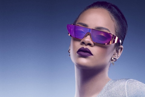 Screenshot №1 pro téma Rihanna in Dior Sunglasses 480x320