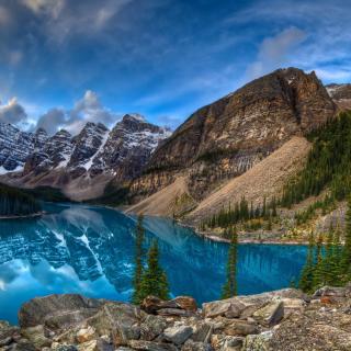 Mountain Lake - Obrázkek zdarma pro iPad Air