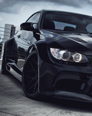 Black BMW E93 series 3 - Obrázkek zdarma pro 132x176