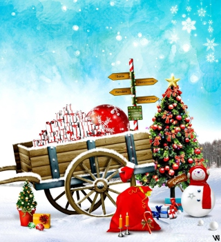 Happy Snow - Obrázkek zdarma pro 128x128