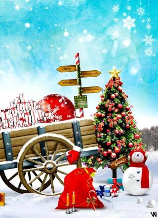 Happy Snow - Obrázkek zdarma pro Nokia Asha 202