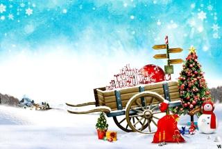 Happy Snow - Obrázkek zdarma pro Motorola DROID 2