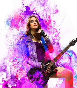 Music Girl - Obrázkek zdarma pro Nokia Asha 503