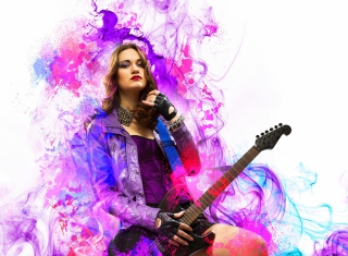 Music Girl - Obrázkek zdarma pro Samsung Galaxy Grand 2