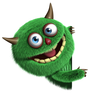 Fluffy Green Monster - Obrázkek zdarma pro iPad mini 2