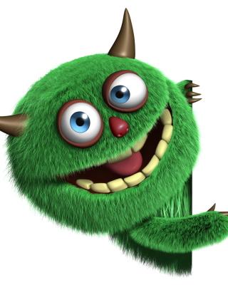 Fluffy Green Monster - Obrázkek zdarma pro Nokia Asha 306