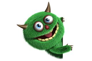 Fluffy Green Monster - Obrázkek zdarma pro Nokia X2-01