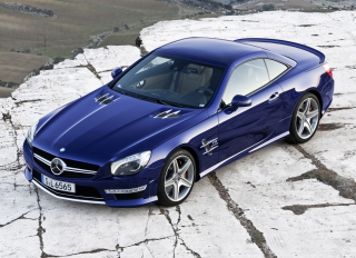 Mercedes SL 65 AMG V12 Biturbo Wallpaper for Android, iPhone and iPad