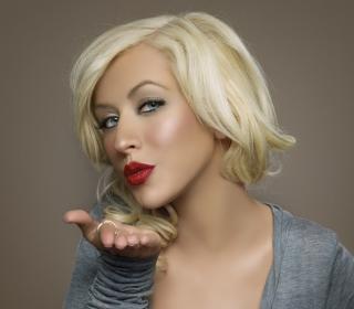 Christina Aguilera Kiss - Obrázkek zdarma pro iPad