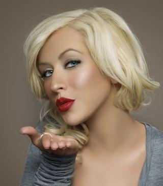 Christina Aguilera Kiss - Obrázkek zdarma pro Nokia Asha 308