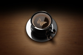 Butterfly Coffee Background for Android, iPhone and iPad