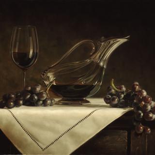 Still life grapes and wine - Obrázkek zdarma pro 128x128
