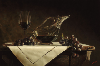 Still life grapes and wine - Obrázkek zdarma pro Widescreen Desktop PC 1920x1080 Full HD