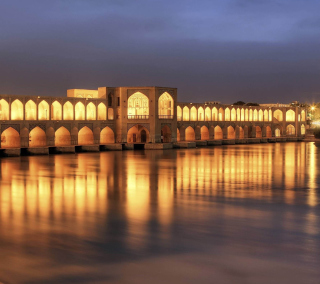 Khaju Bridge - Iran - Obrázkek zdarma pro iPad Air