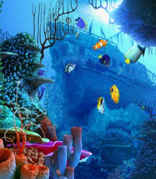 Aquarium Coral - Obrázkek zdarma pro iPhone 5C