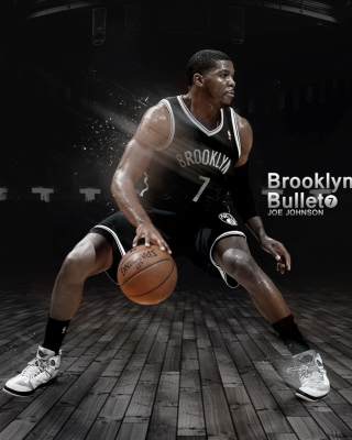 Joe Johnson from Brooklyn Nets NBA - Obrázkek zdarma pro 128x160