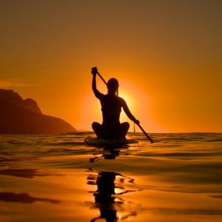 Sunset Surfer - Obrázkek zdarma pro 320x320