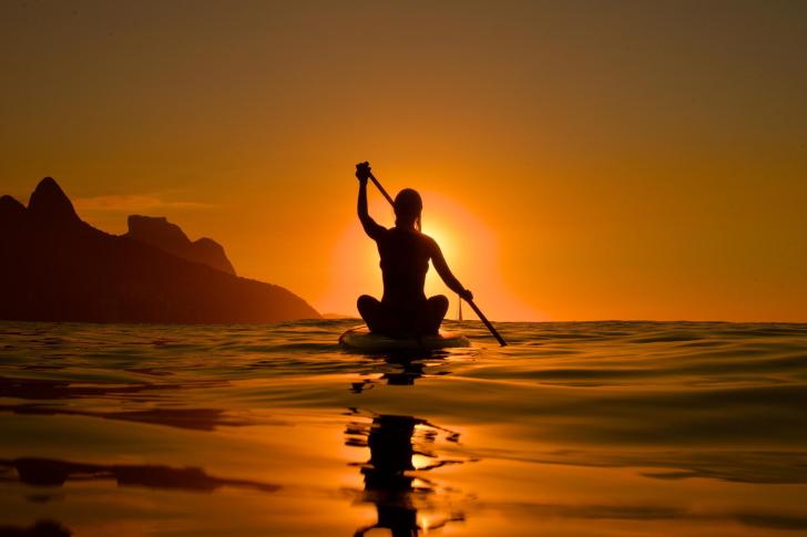 Sunset Surfer wallpaper