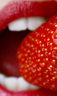 Screenshot №1 pro téma Tasty Strawberry 240x400